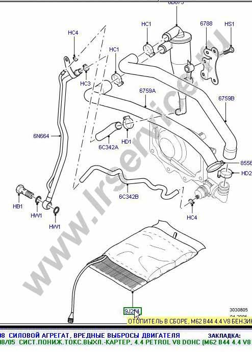 Range Rover неисправности системы рециркуляции