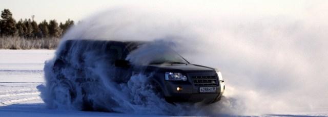 Land Rover зимой